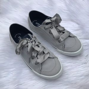 Sperry satin lace sneakers